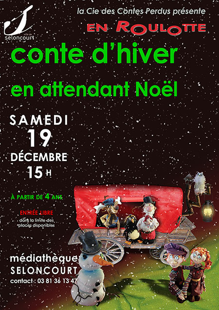 Affiche spectacle de Noël 2015. 19 décembre à 15h00