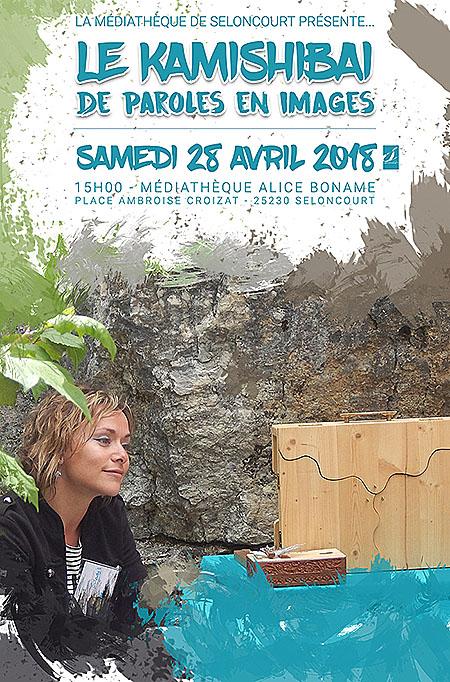 Affiche spectacle Kamishibai du 28 avril 2018