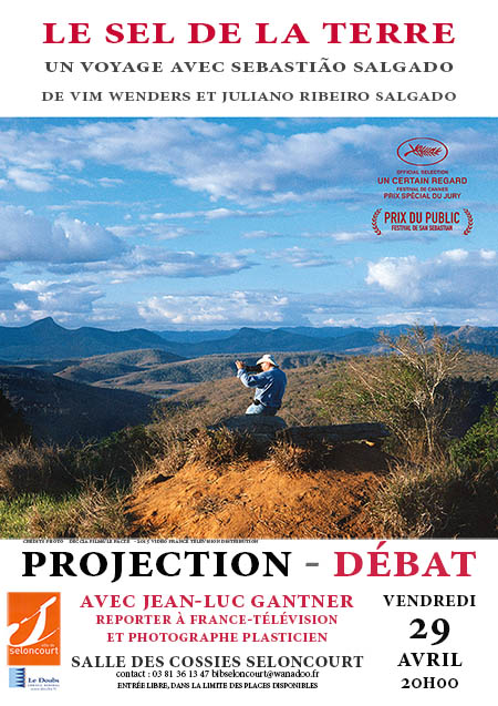 Affiche projection Le Sel de la Terre