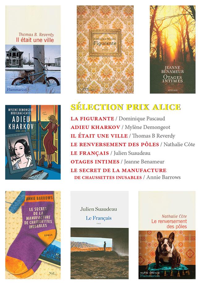 Présentation sélection Prix Alice 2016