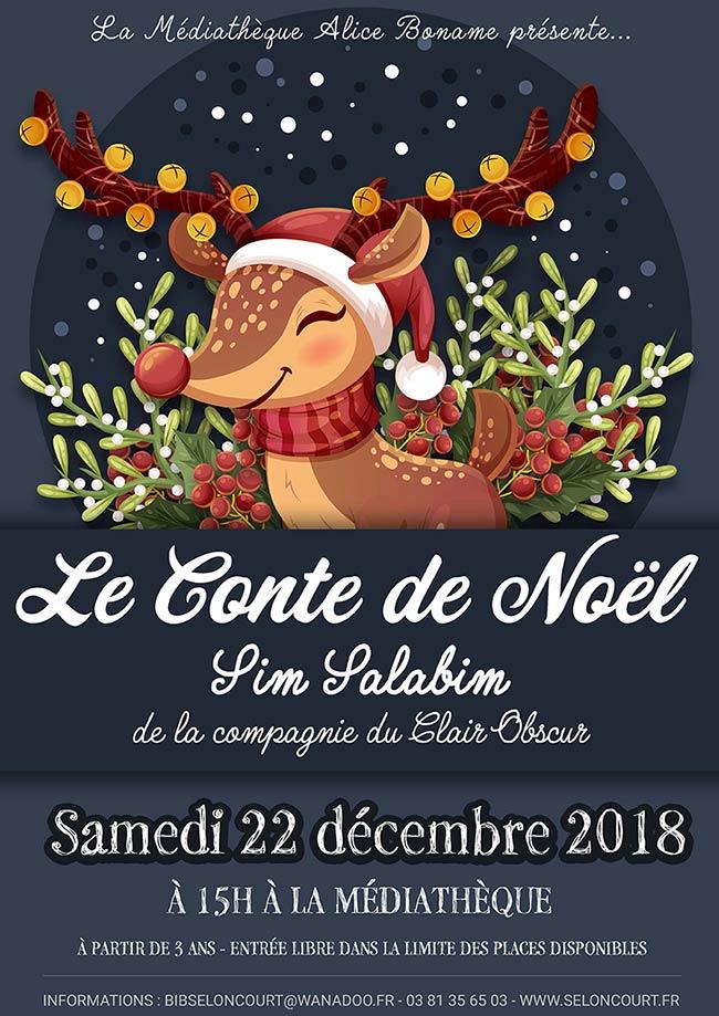 Visuel conte de Noël Sim Salabim- Décembre 2018